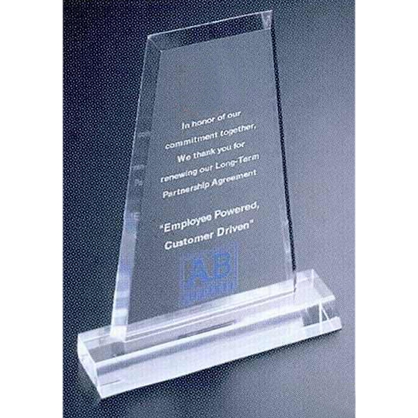 "Economy Series - Blank Goods. Clear, Polished Economy Acrylic Flat Obelisk Award, 4"" X 6"" X 3/8"" Photo"