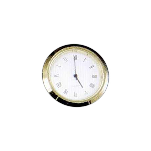 Blank Goods. Clock With Gold Bezel And White Roman Dial Photo