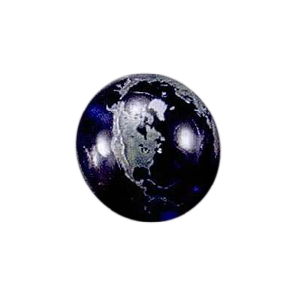 "1 3/4"" - Blank Goods. Full Color Globe Photo"
