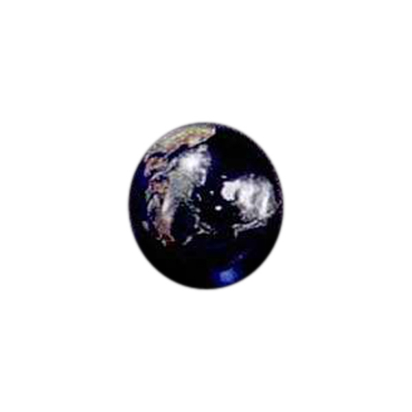 "7/8"" - Blank Goods. Full Color Globe Photo"