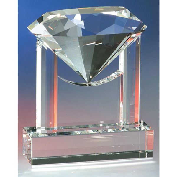 Diamond Trophy Crystal Award By Crystal World Photo