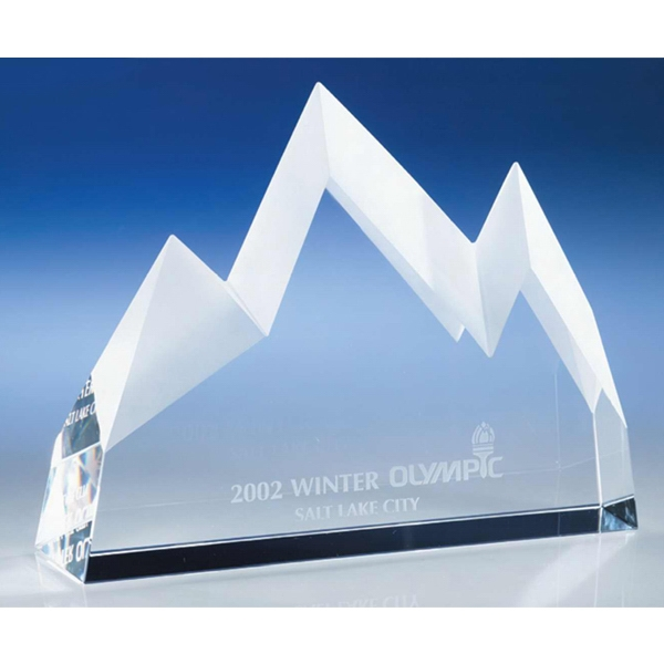 Mountains Crystal Award By Crystal World Photo