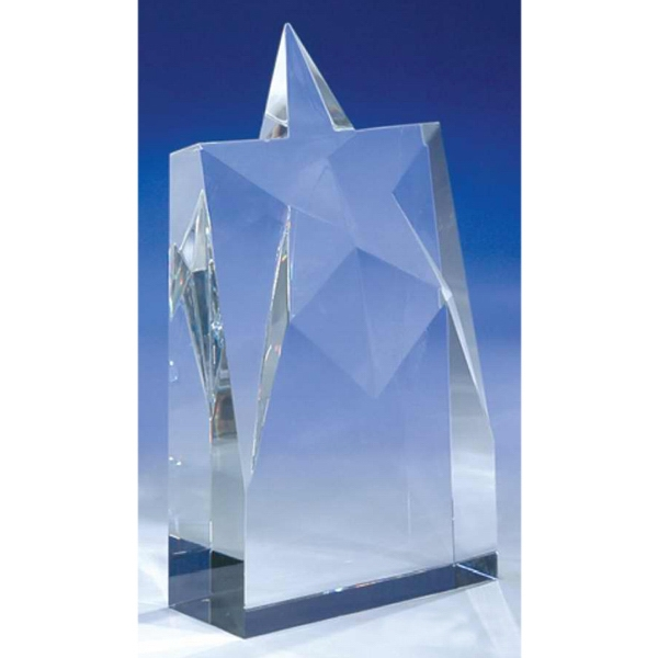 "Supernova - 4"" X 1 1/2"" X 7"" - Supernova 8-7/8"" Crystal Award By Crystal World Photo"