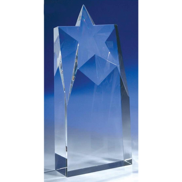 "Supernova - 4"" X 1 1/2"" X 8 7/8"" - Supernova 8-7/8"" Crystal Award By Crystal World Photo"