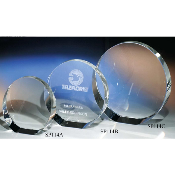 "Infinity Infinity - 5 3/4"" - Infinity Round Crystal Award By Crystal World Photo"