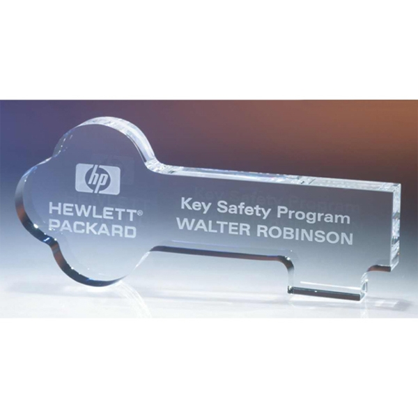 Key - Key Shaped Crystal Award By Crystal World Photo