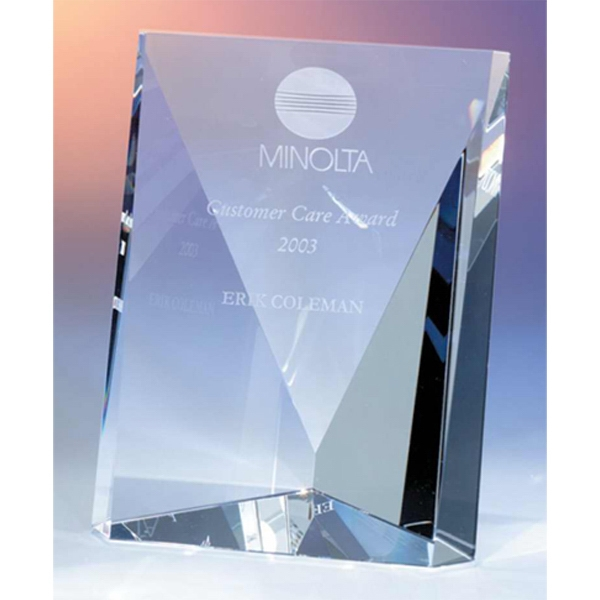 Quadro - Quadro Angled Crystal Award By Crystal World Photo