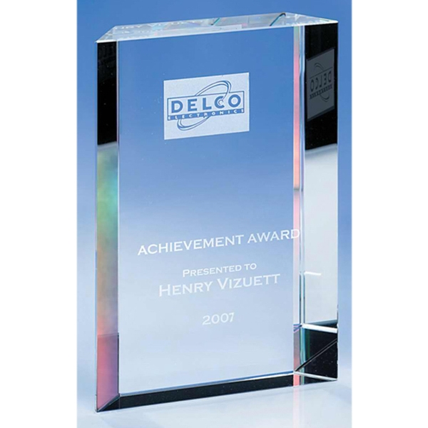 "Success - Success Crystal Award By Crystal World. 5-7/8"" Photo"