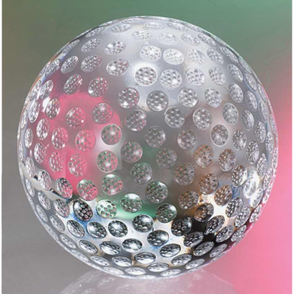 "4"" - The ""golf Ball"" Crystal Golf Shaped Sports Award By Crystal World Photo"