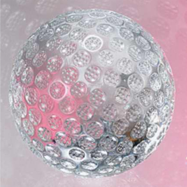"2"" - The ""golf Ball"" Crystal Golf Shaped Sports Award By Crystal World Photo"