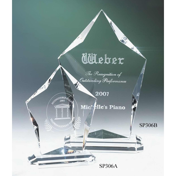 "Cirrus Silhouette Series - 4 1/4"" X 1 7/8"" X 6"" - Cirrus Crystal Award By Crystal World. Sp306 Photo"