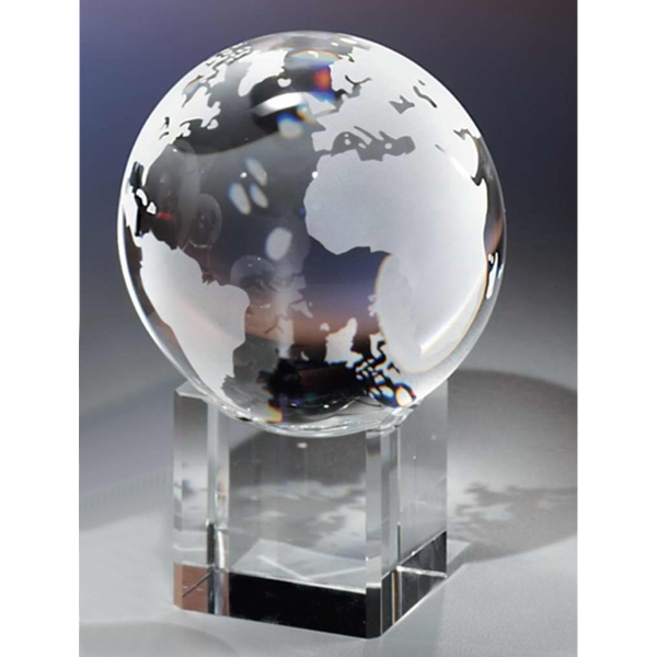 "3 1/8"" - Crystal Globe & Base By Crystal World Photo"