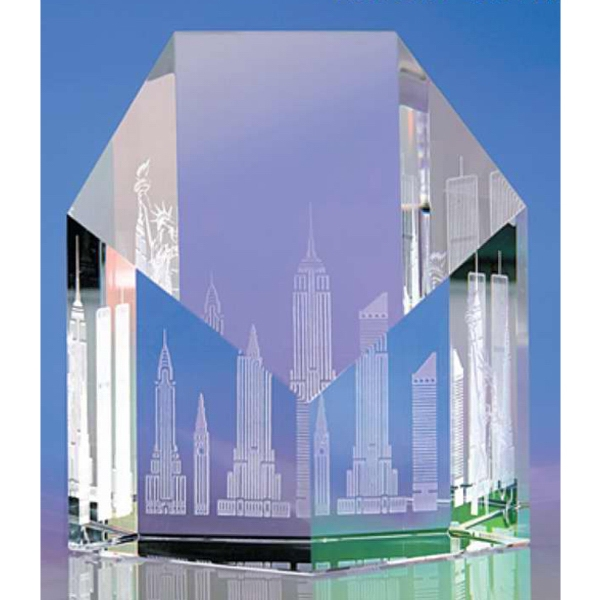 Aspect - Aspect Skyline Crystal Paperweight By Crystal World Photo