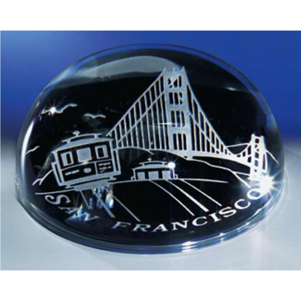 Dome Paperweight Crystal Paperweight By Crystal World Photo