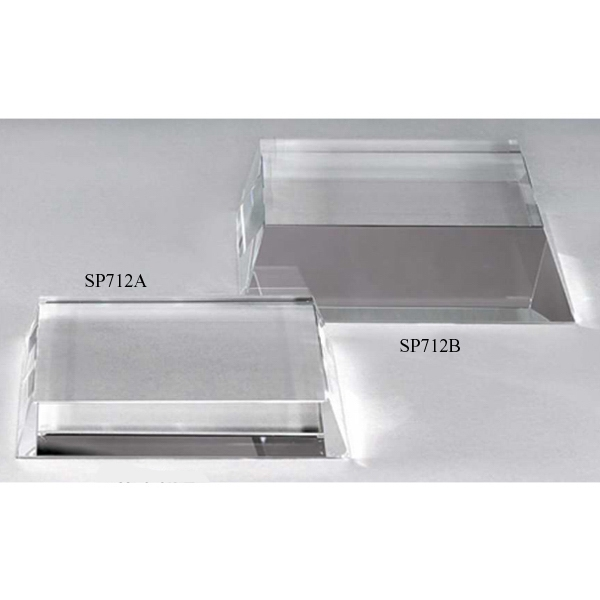 "4 1/8"" X 4 1/8"" X 1 1/2"" - Optic Crystal Base Photo"