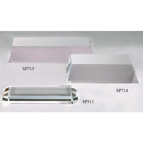 "5 1/4"" X 2 3/8"" X 1/2"" - Rectangular Crystal Base Photo"