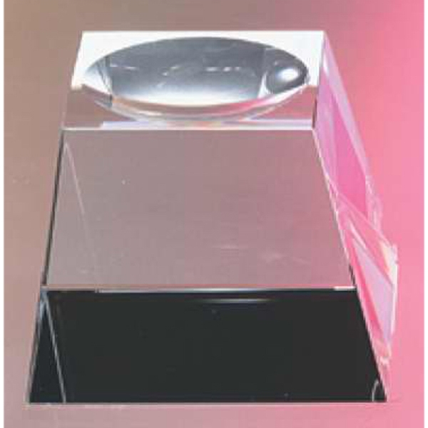 "2 1/2"" X 2 1/2"" X 1 3/4"" - Crystal Base For Ball Awards And Paperweights Photo"
