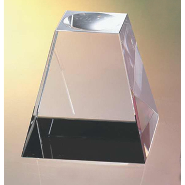 "3"" X 3"" X 3"" - Crystal Base For Ball Awards And Paperweights Photo"