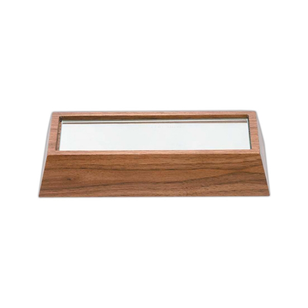 "7 3/4"" X 3 5/8"" X 1 1/2"" - Solid Walnut Wooden Bases By Crystal World Photo"