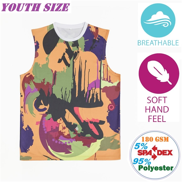 Streetstyle Breathable Youth Tanks w/ Full Bleed Sublimation