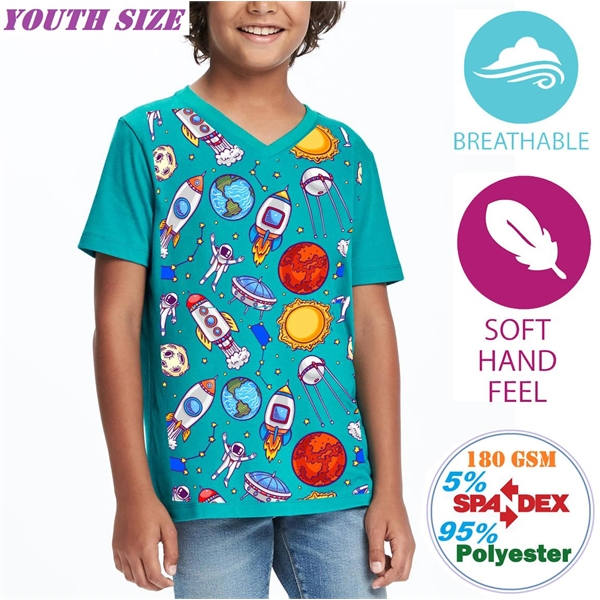 Outdoor V-Neck Youth Tanks w/ Full Bleed Sublimation Tshirts