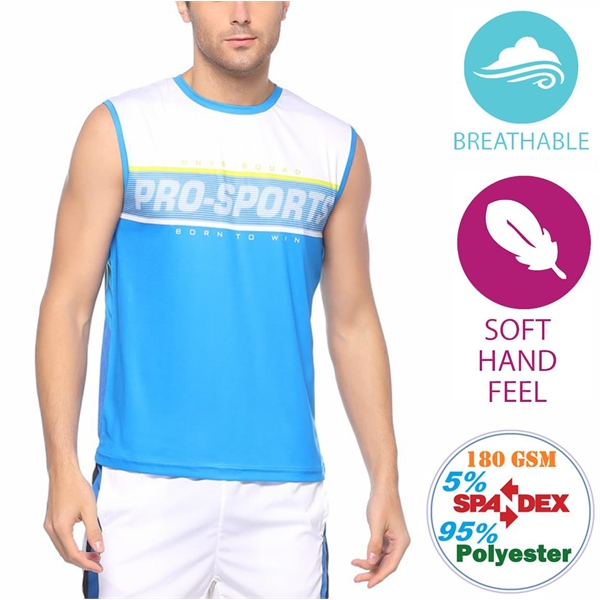 Outdoor Men's Breathable Tanks w/ Full Bleed Sublimation