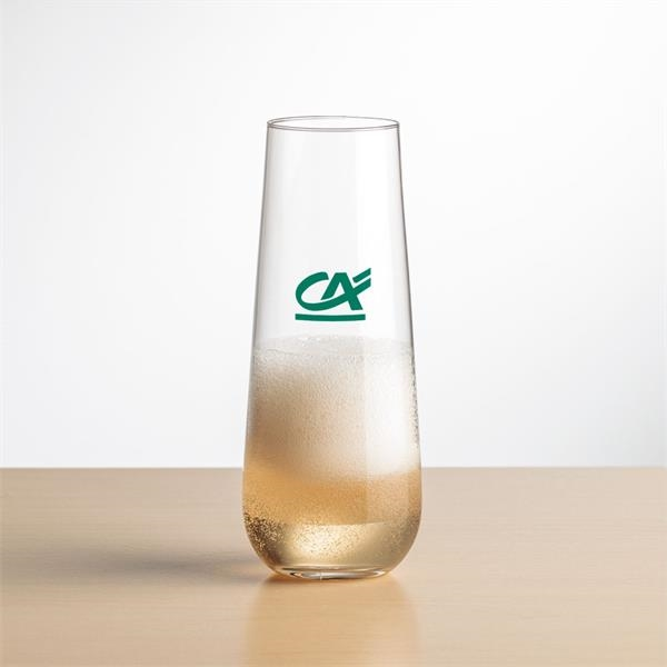 Cannes Stemless Flute - Imprinted