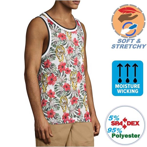 140G Spandex Milk Silk Unisex Sleeveless Tshirts, Breathable