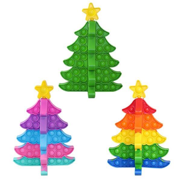3D Christmas Tree Push Pop Bubble Fidget Toy