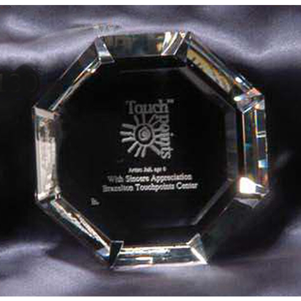 Octagon - Crystal Paperweight Photo
