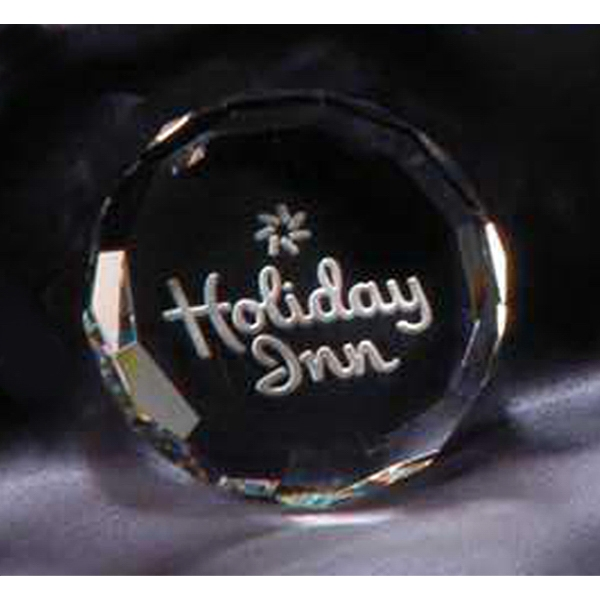 Hockey Puck - Crystal Paperweight Photo