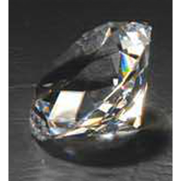 "2 5/8"" - Crystal Diamond Shape Paperweight Photo"