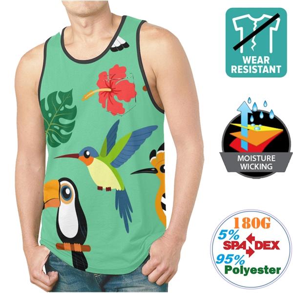 180G Milk Silk Breathable Unisex Sleeveless Tshirts w/Pocket