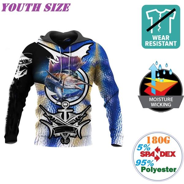 180G Milk Silk Comfort Youth Long Sleeve T-Shirts w/ Hoodie