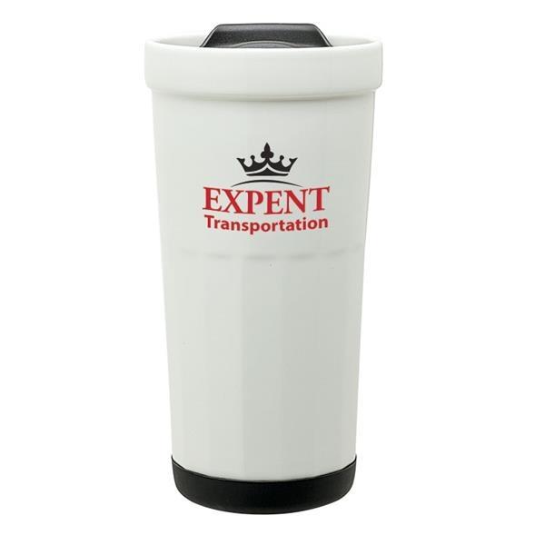 Latte 16 oz. Ceramic Travel Tumbler