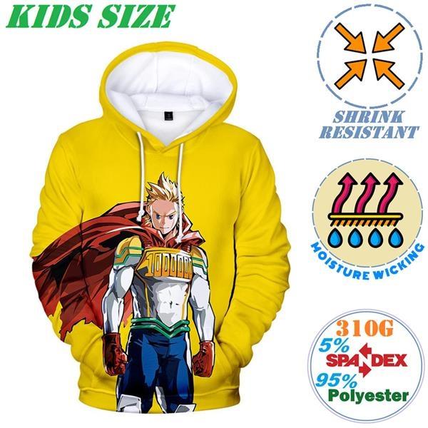 310G Fleece Kids Pullover Hoodies w/ 2 Pockets, Shrinkproof