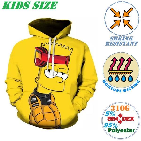 310G Fleece Kids Double Layer Pullover Hoodies w/ 2 Pockets