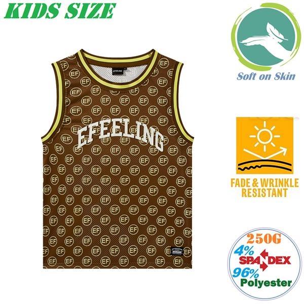 250G Fleece Casual Kids Tanks w/ Soft & Wrinkle Resistance