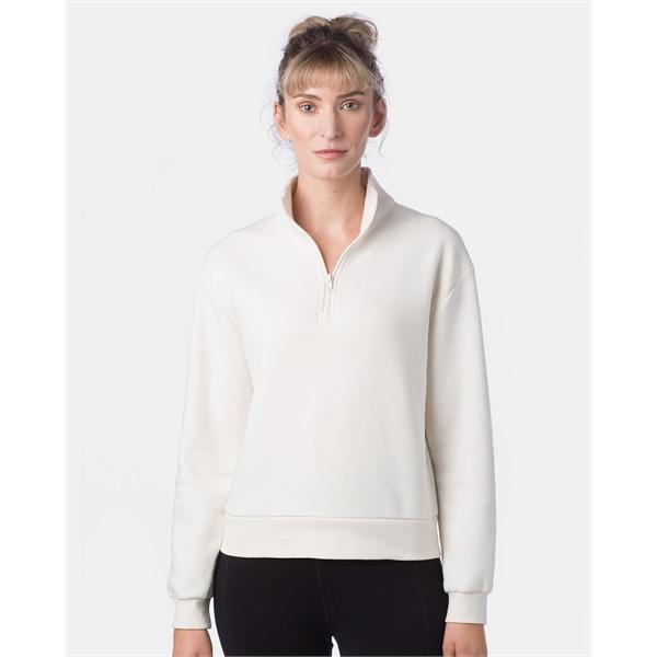 Alternative Women's Eco-Cozy Fleece Mock Neck Quarter-Zip...