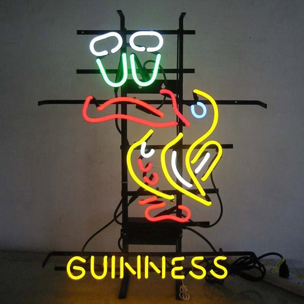 Electric Sign - Custom fabricated LED and neon sign, Guinness design.