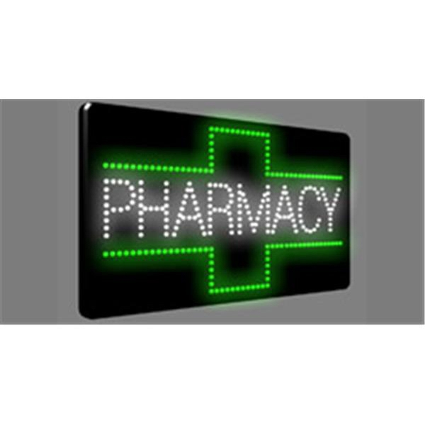 Sign - Custom fabricated LED and neon sign, Pharmacy design.