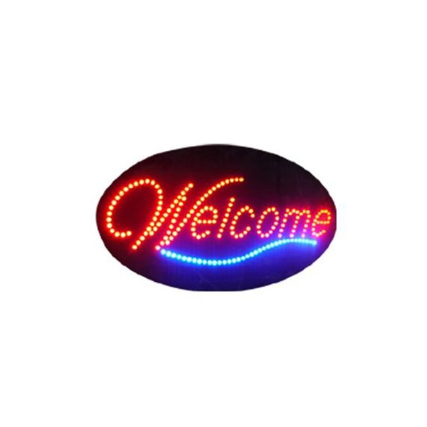 Sign - Custom LED electronic sign, Welcome design.