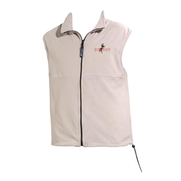 Polar fleece reversible vest with bungee cord