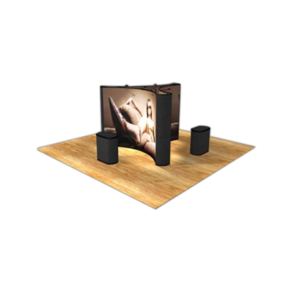 Island graphic / fabric kit - Graphic island display with self locking frame and 12-graphic front panels.