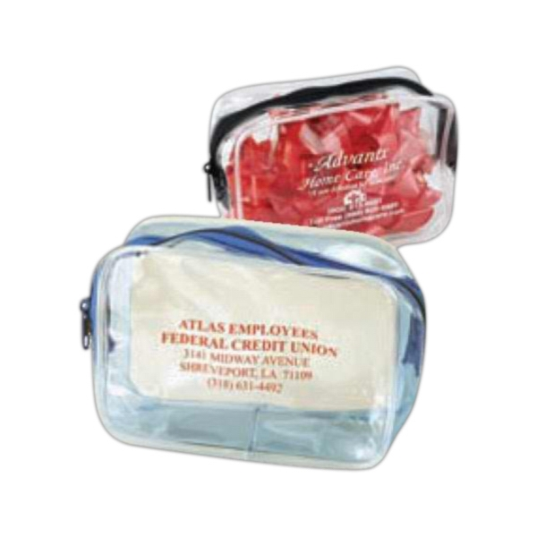 Cosmo Pack - Clear Cosmetic Bag With Colored Accent. 5-day Quick Ship Photo