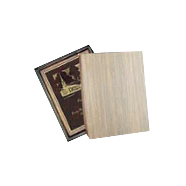 "Walnut Finish Recognition Window Box Holds Plaques Up To 1"" Thick, W 6"" X 8"", Blank Photo"