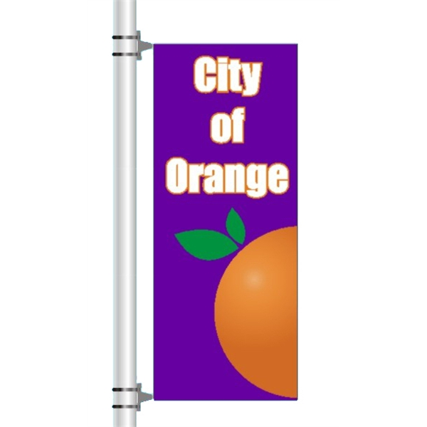 Pole Banner - One sided graphic pole banner.