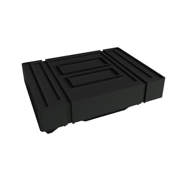 "Portable Shipping Case - Portable shipping case with wheels, 43"" x 31"" x 7""-13""."