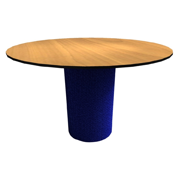Table - Traditional pedestal round conference table with split top,
