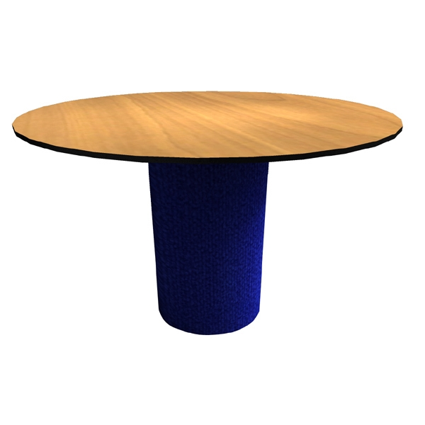 "Table - Traditional pedestal round 46"" conference table with split top,"